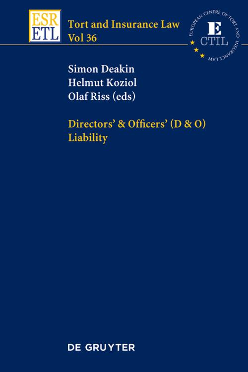 Directors & Officers (D & O) Liability