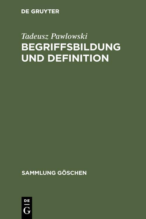 Begriffsbildung und Definition