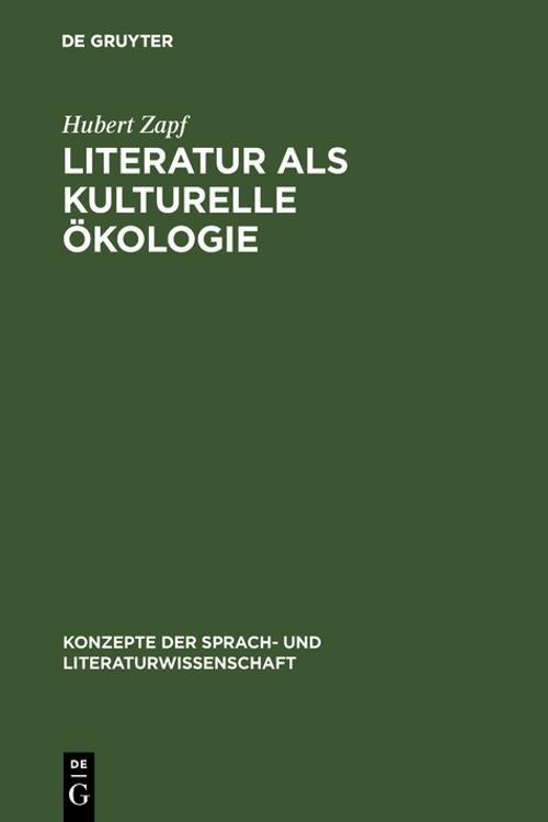 Literatur als kulturelle Ökologie