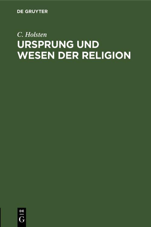 Ursprung und Wesen der Religion