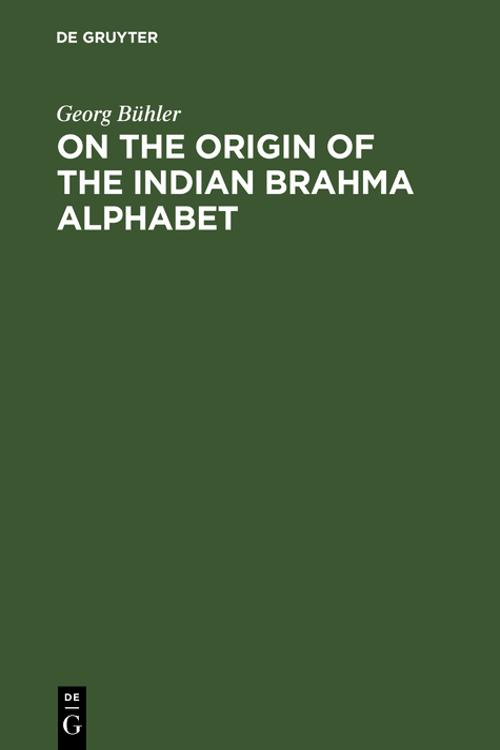 On the origin of the Indian Brahma alphabet