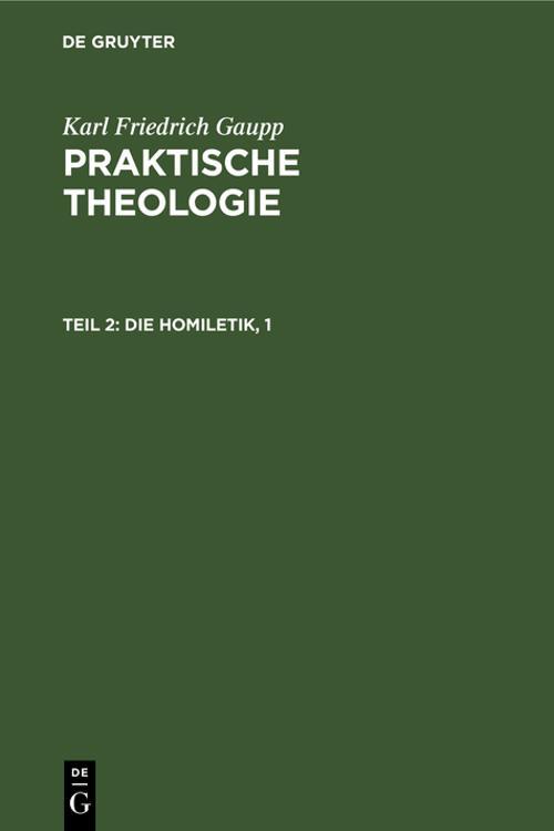 Die Homiletik, 1