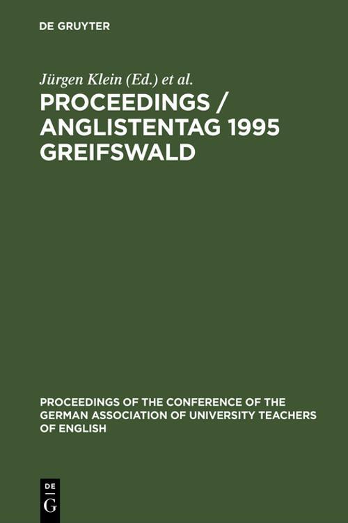 Proceedings / Anglistentag 1995 Greifswald