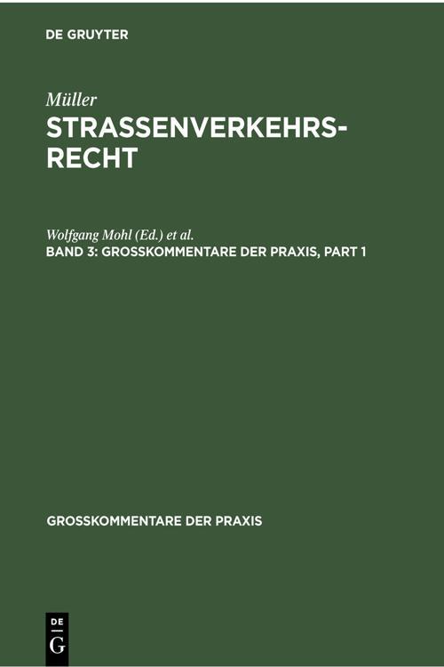 Fritz Müller: Straßenverkehrsrecht. Band 3