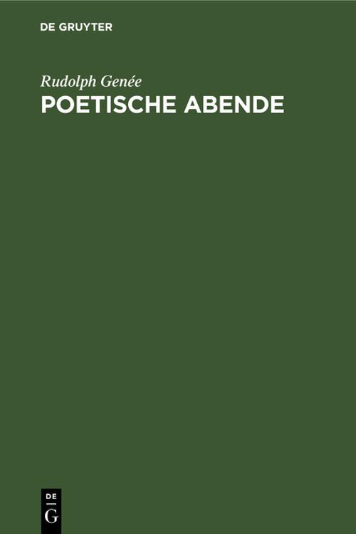 Poetische Abende