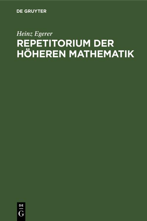 Repetitorium der höheren Mathematik