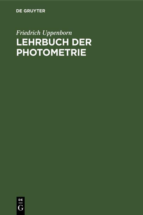 Lehrbuch der Photometrie