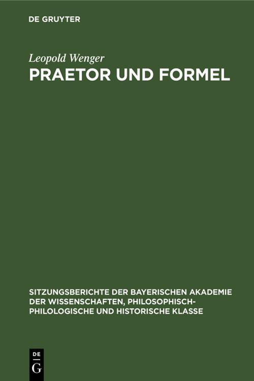 Praetor und Formel