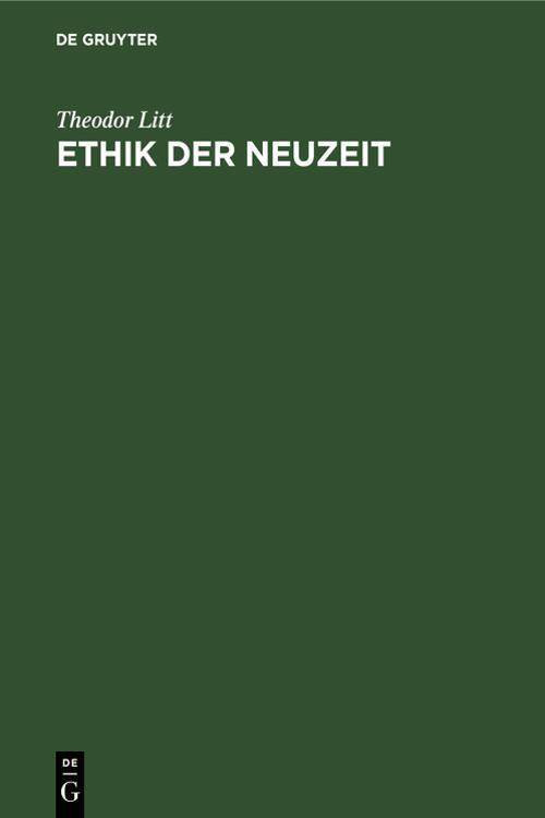 Ethik der Neuzeit