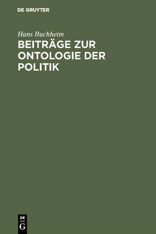 Beiträge zur Ontologie der Politik
