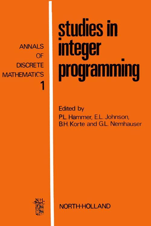 Studies in Integer Programming