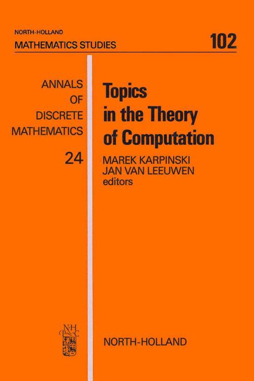 Topics in the Theory of Computation