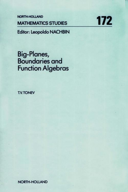 Big-Planes, Boundaries and Function Algebras