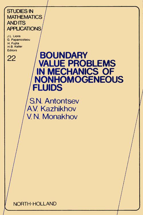 Boundary Value Problems in Mechanics of Nonhomogeneous Fluids