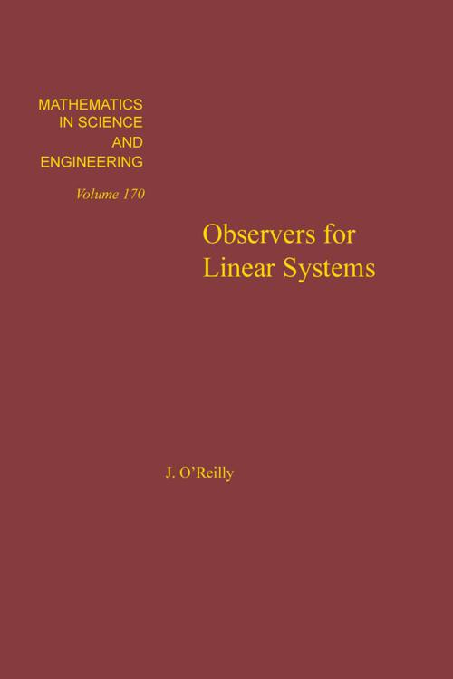 Observers for Linear Systems