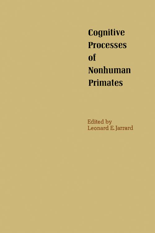 Cognitive Processes of Nonhuman Primates