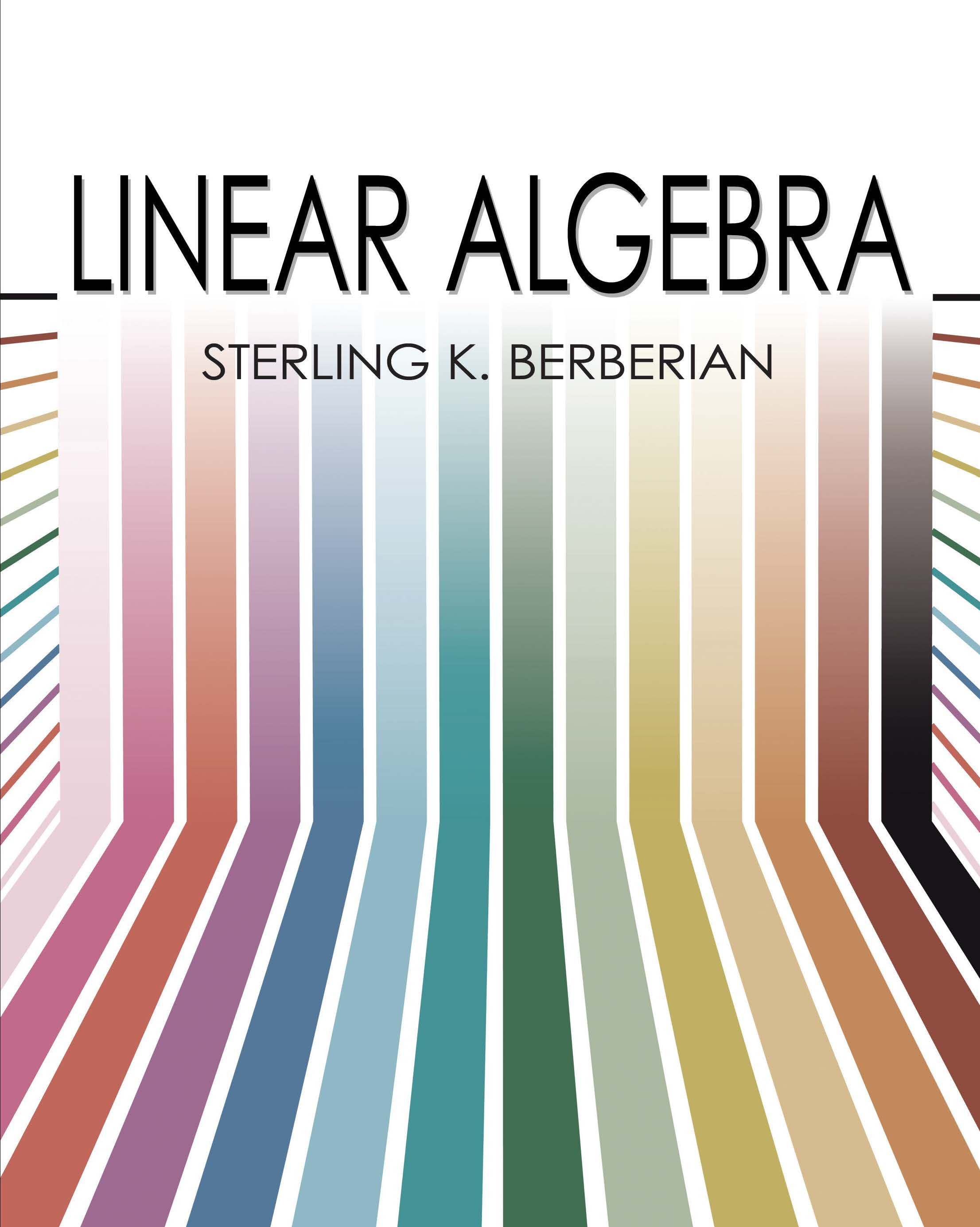 Linear Algebra by Sterling K  Berberian | Read online | PDF, eBook