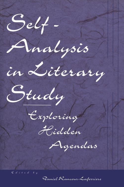 Self-Analysis in Literary Study
