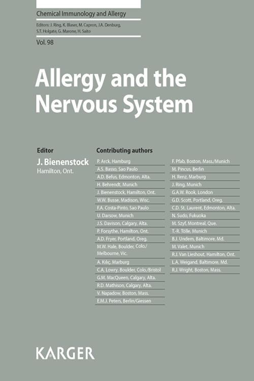 Allergy and the Nervous System