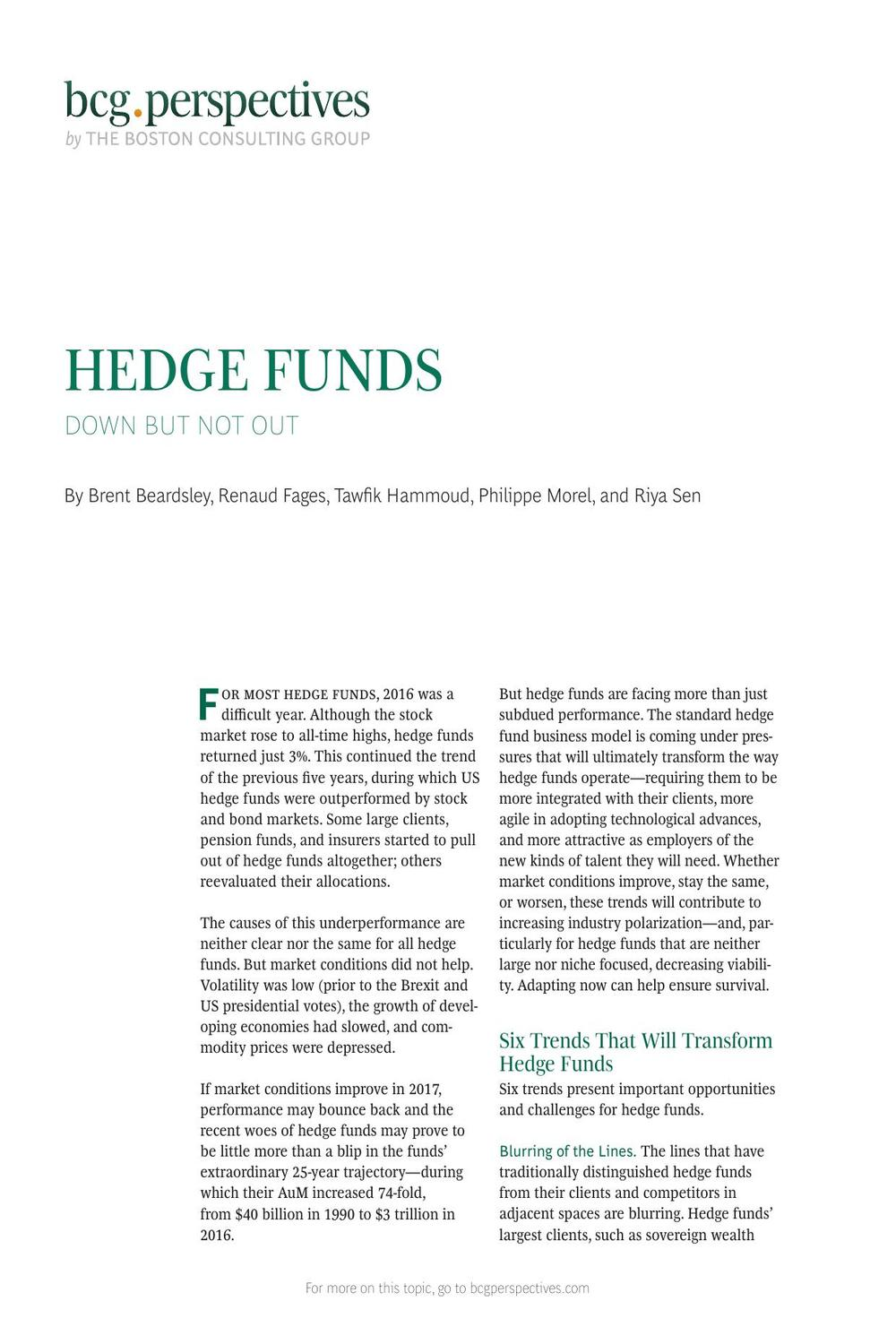 All About Hedge Funds Pdf