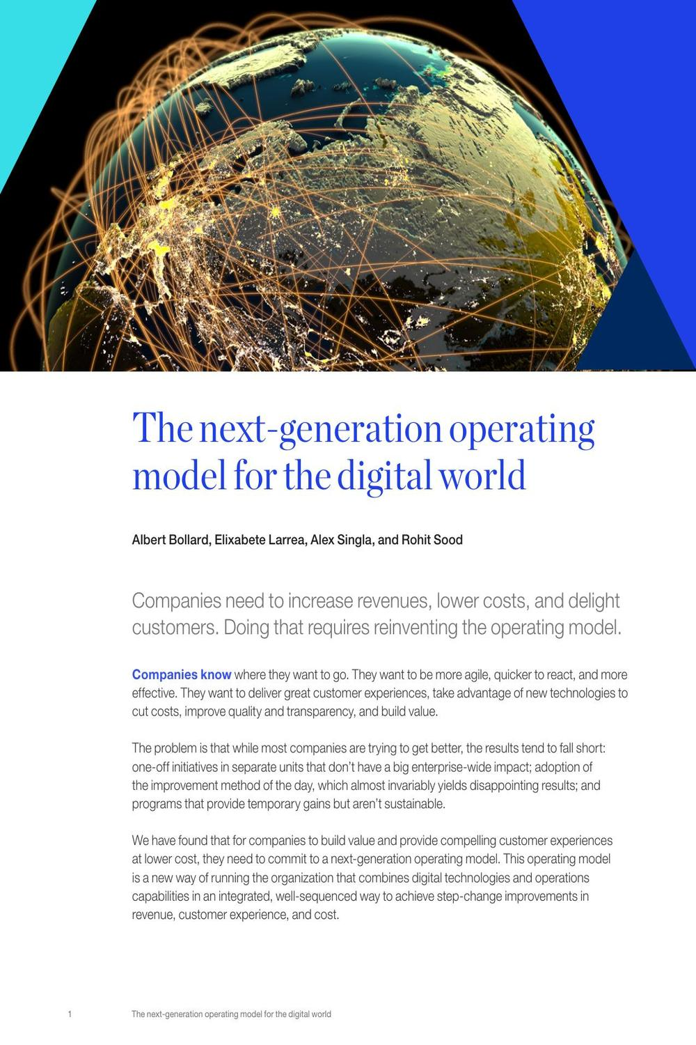 The next-generation operating model for the digital world by