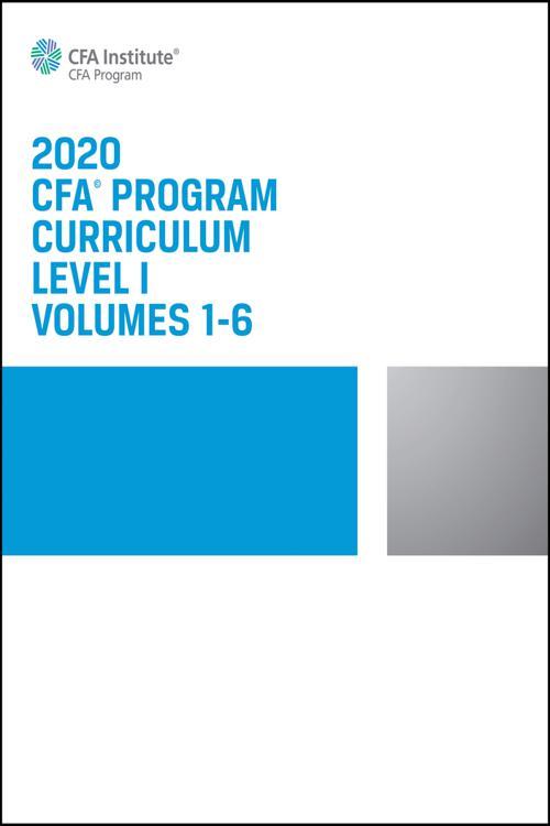CFA Program Curriculum 2020 Level I Volumes 1-6 Box Set